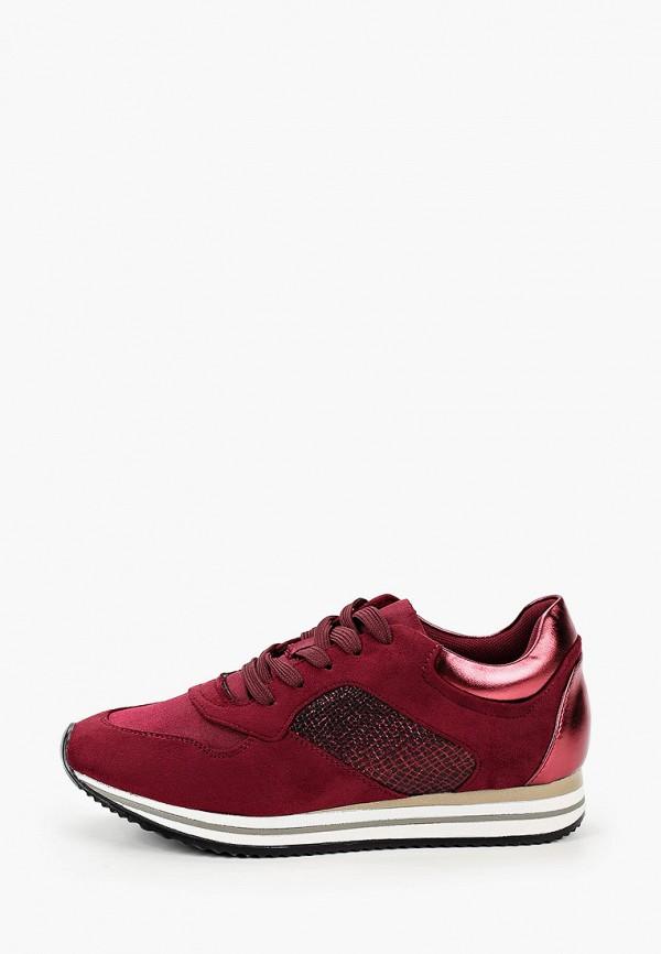 женские кроссовки findlay, бордовые