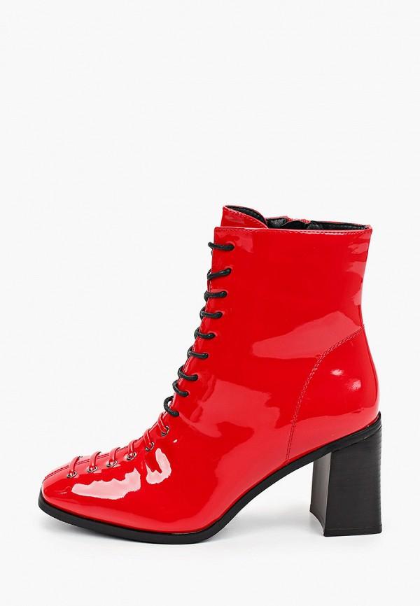 женские ботильоны super mode, красные