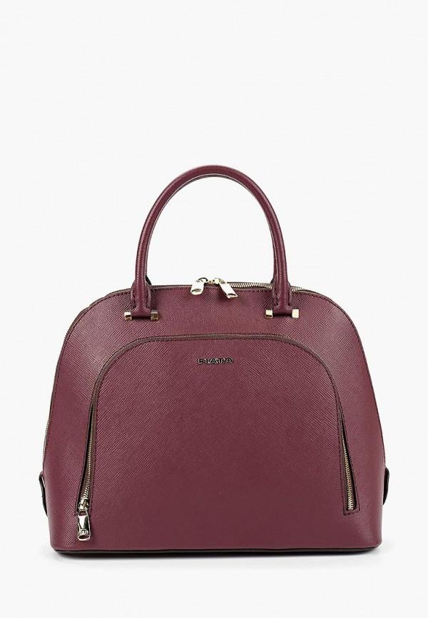 женская сумка fiato, бордовая