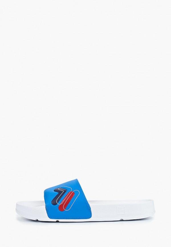 мужские сланцы fila, синие