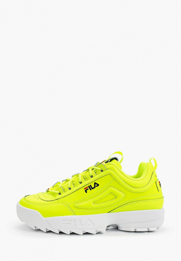 мужские низкие кроссовки fila, желтые