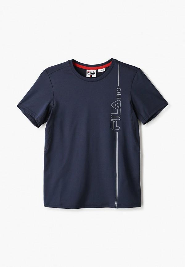 футболка с коротким рукавом fila для мальчика, синяя