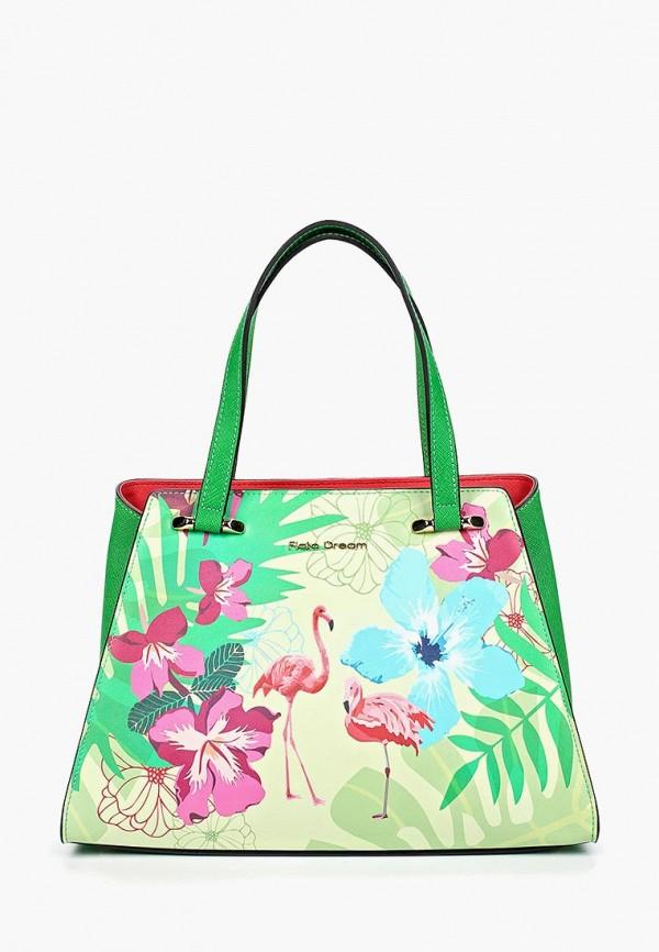 женская сумка fiato, зеленая