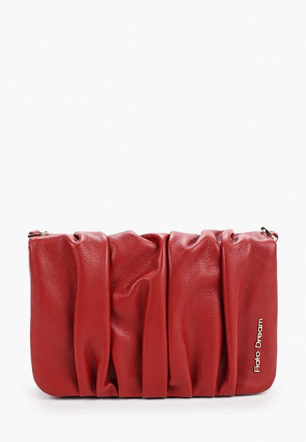 женская сумка fiato, красная