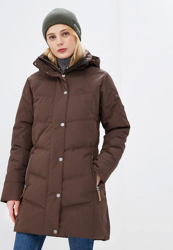 женская куртка five seasons, коричневая