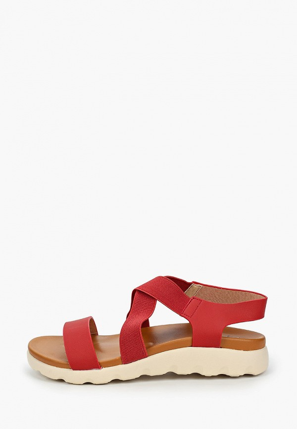 женские сандалии flyfor, красные