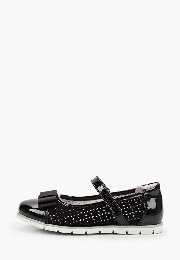 туфли flamingo для девочки, черные