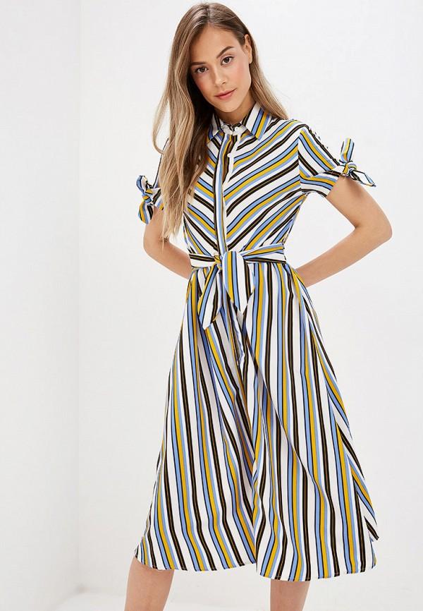 женское платье flam mode, разноцветное