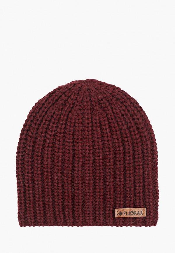 женская шапка flioraj, бордовая