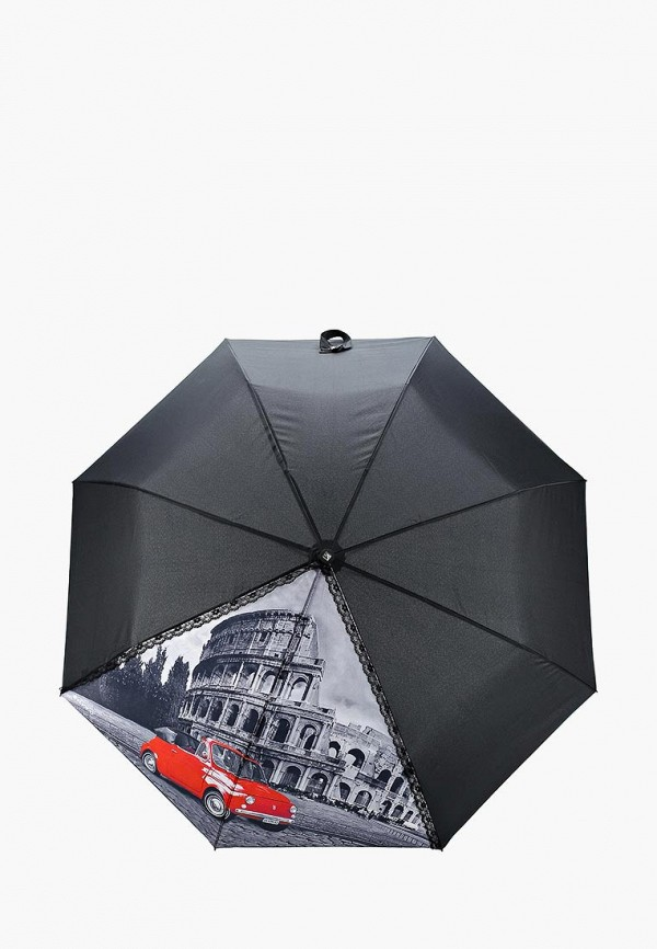 Купить Зонт складной Flioraj, fl976dwaszf3, черный, Осень-зима 2018/2019