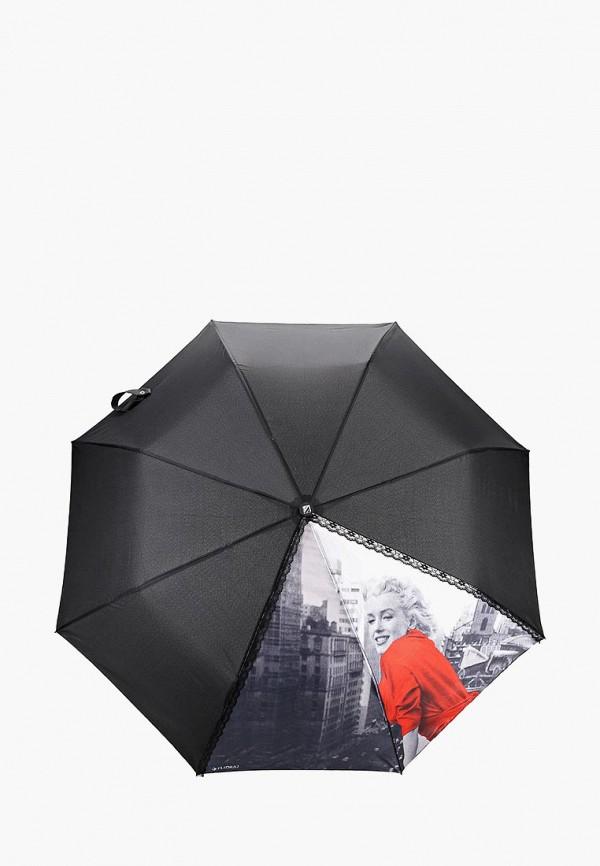 Купить Зонт складной Flioraj, fl976dwddeu7, черный, Осень-зима 2018/2019