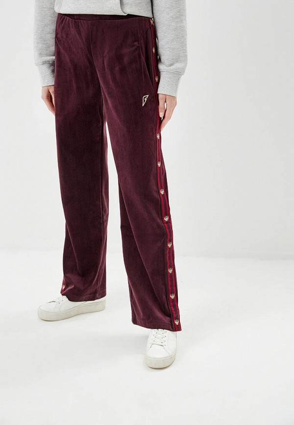 женские спортивные брюки forward, бордовые