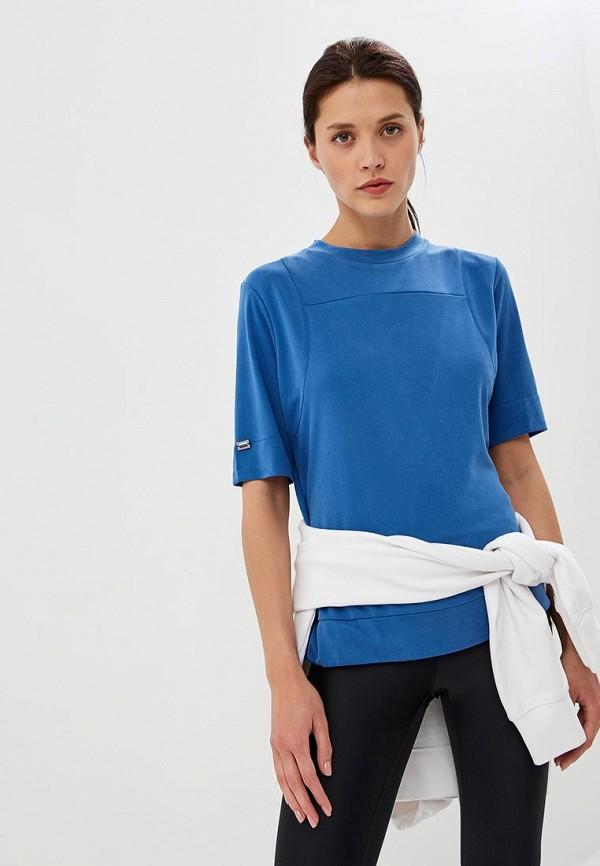 женская спортивные футболка forward, голубая