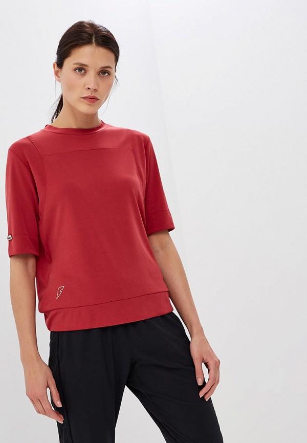 женская спортивные футболка forward, красная