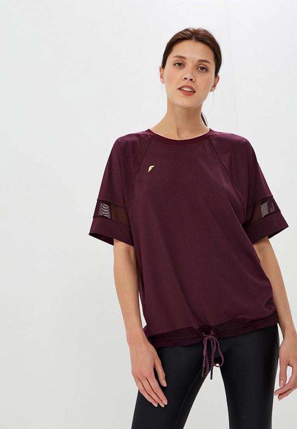 женская спортивные футболка forward, бордовая