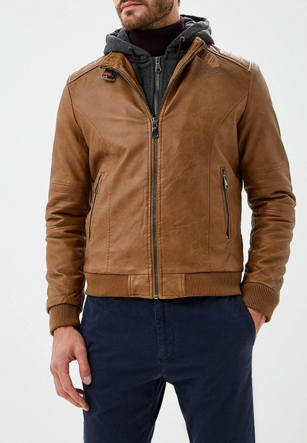 Купить Куртка кожаная Forex, FO011EMCNGK6, коричневый, Осень-зима 2018/2019
