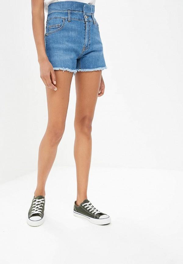 женские джинсовые шорты fornarina, синие
