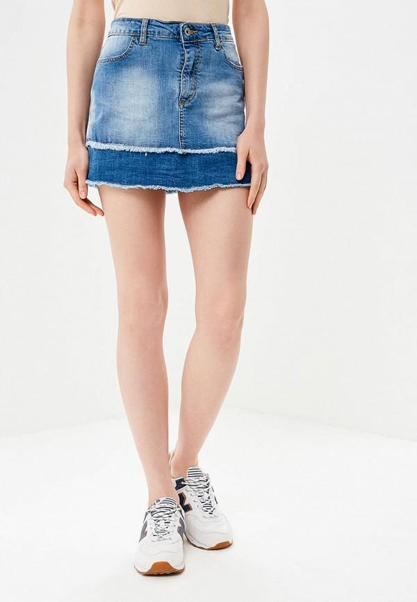 Юбка джинсовая Fornarina Fornarina FO019EWAPZN2 цены онлайн