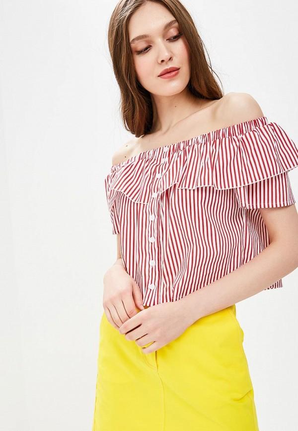 женская блузка fornarina, красная