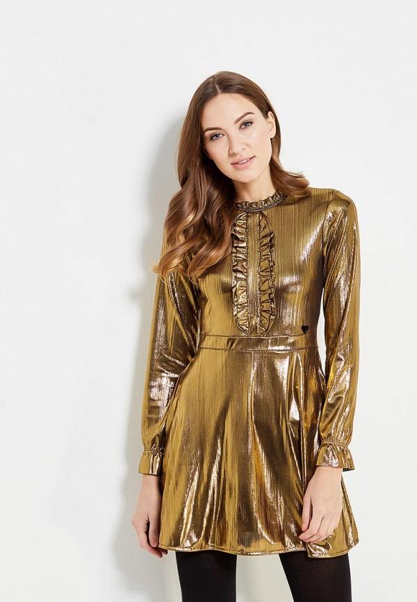 женское вечерние платье fornarina, золотое