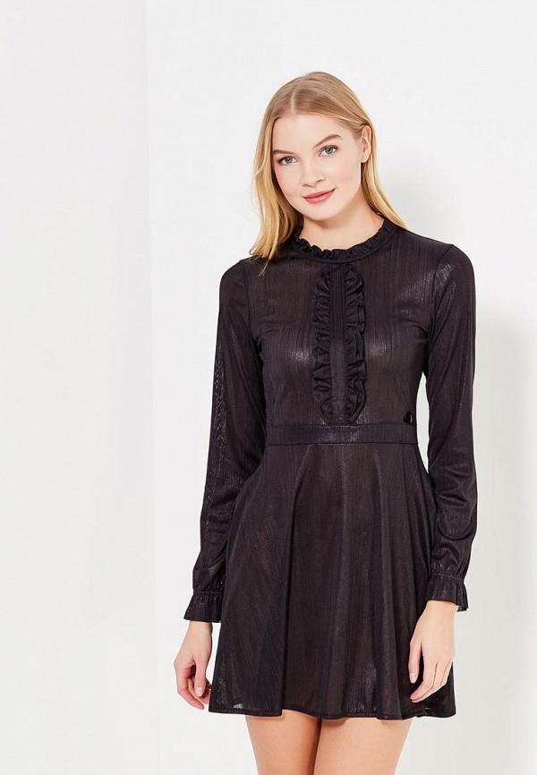женское повседневные платье fornarina, черное