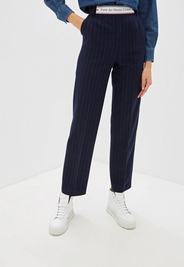 женские классические брюки forte dei marmi couture, синие