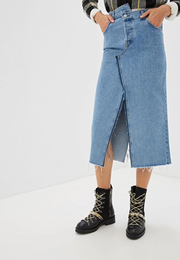 Юбка джинсовая Forte Dei Marmi Couture Forte Dei Marmi Couture FO022EWGQKH5 forte couture джинсовая куртка с вышивкой на спине