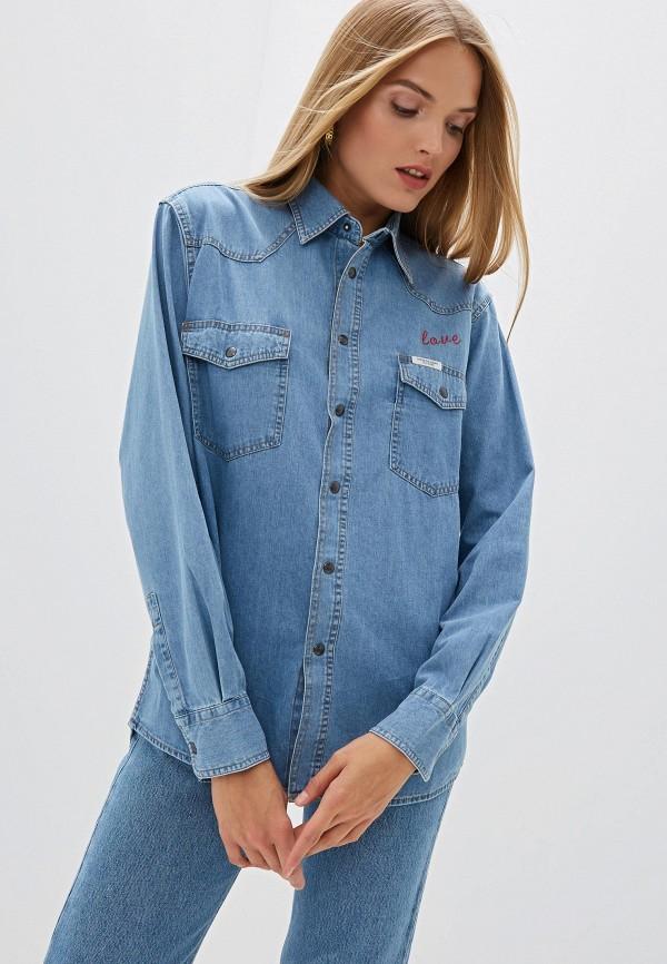 Рубашка джинсовая Forte Dei Marmi Couture Forte Dei Marmi Couture FO022EWGQKH9 forte couture джинсовая куртка с вышивкой на спине