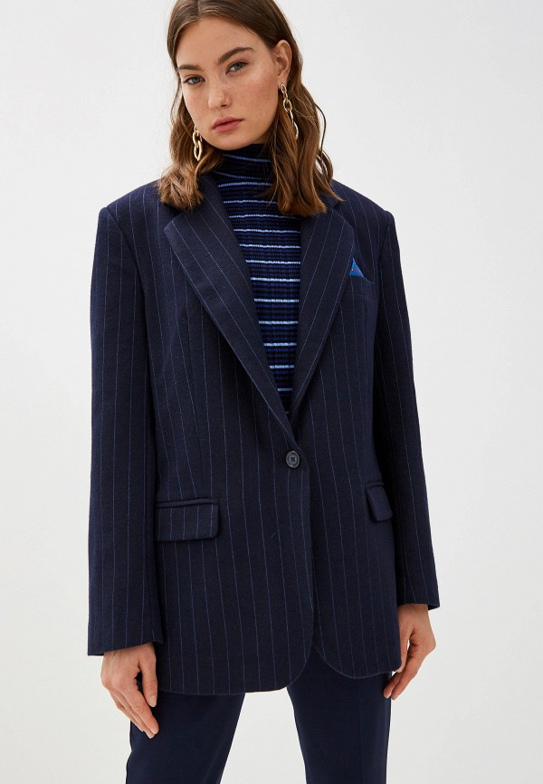 женский пиджак forte dei marmi couture, синий