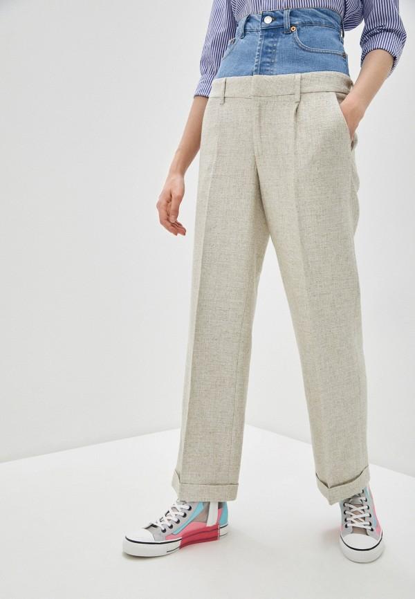 женские повседневные брюки forte dei marmi couture, бежевые