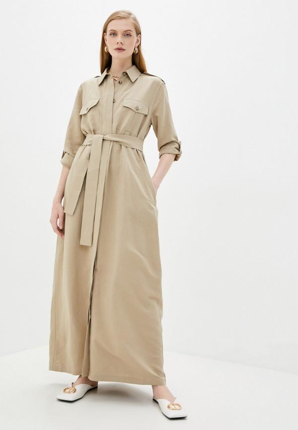женское платье forte dei marmi couture, бежевое