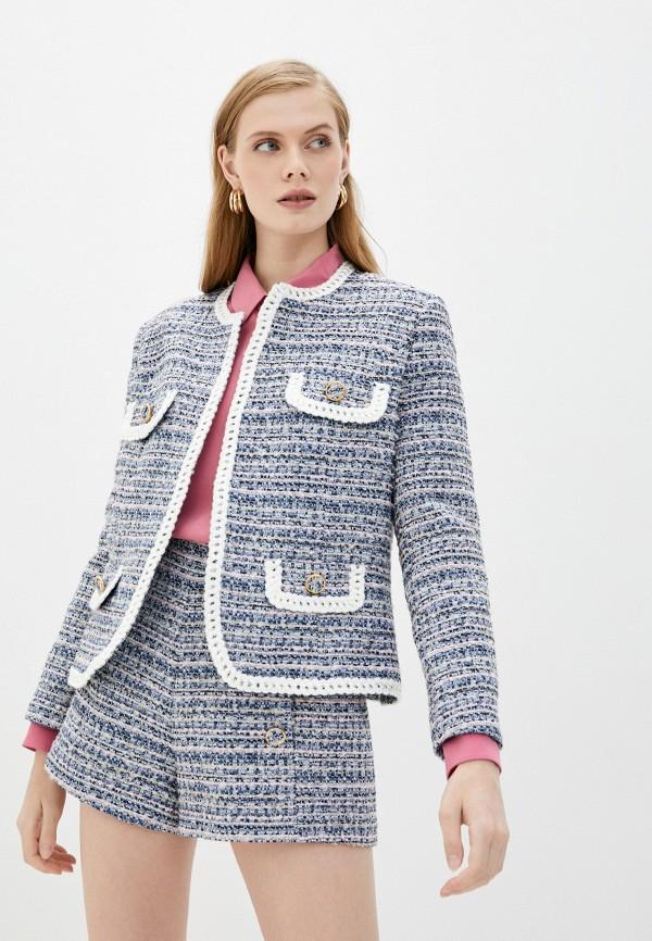 женский жакет forte dei marmi couture, синий