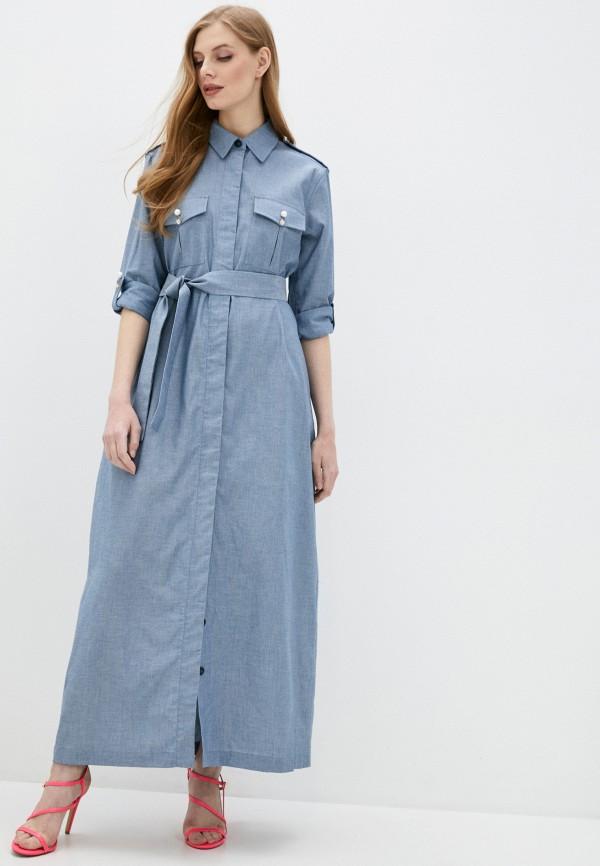женское платье forte dei marmi couture, синее
