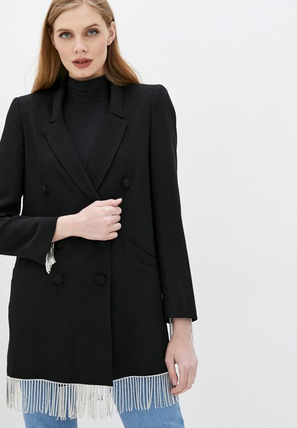 женский жакет forte dei marmi couture, черный
