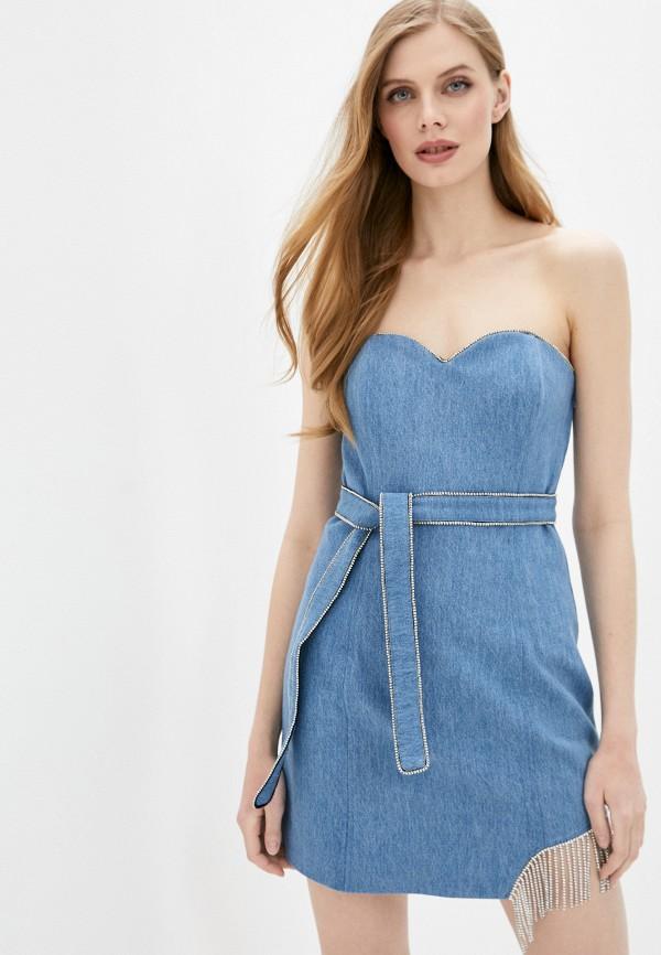 женское джинсовые платье forte dei marmi couture, голубое