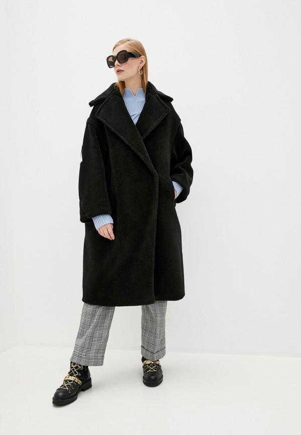 женская шуба forte dei marmi couture, черная