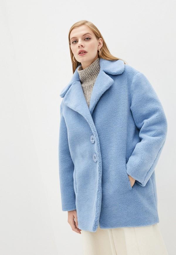 женское пальто forte dei marmi couture, голубое