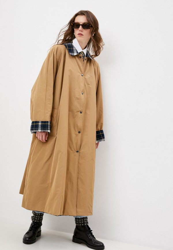 женская куртка forte dei marmi couture, бежевая