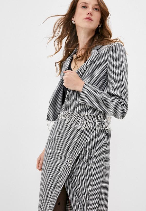 женский жакет forte dei marmi couture, серый