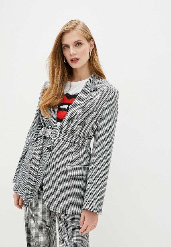 женский пиджак forte dei marmi couture, серый