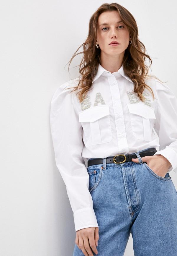 женская рубашка с длинным рукавом forte dei marmi couture, белая