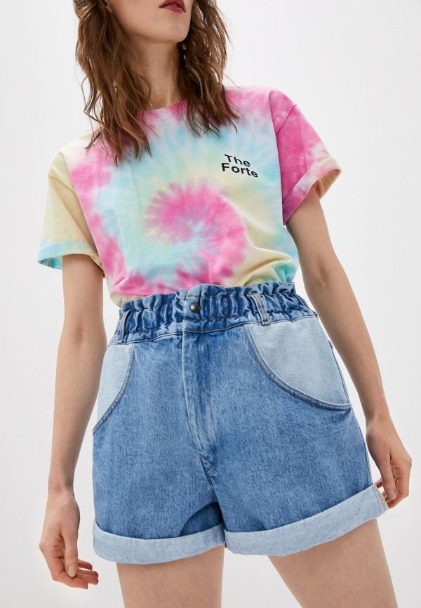 женские джинсовые шорты forte dei marmi couture, голубые