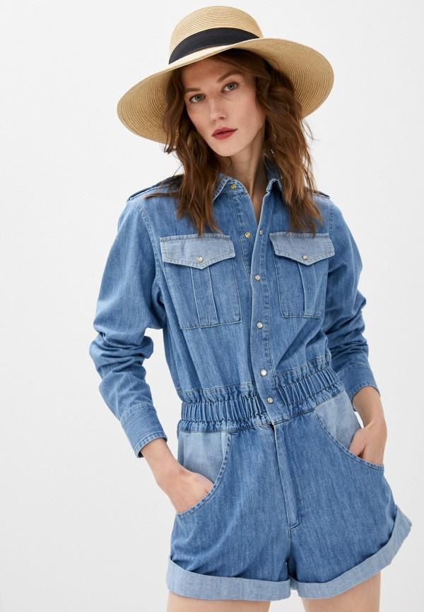 женский джинсовые комбинезон forte dei marmi couture, голубой