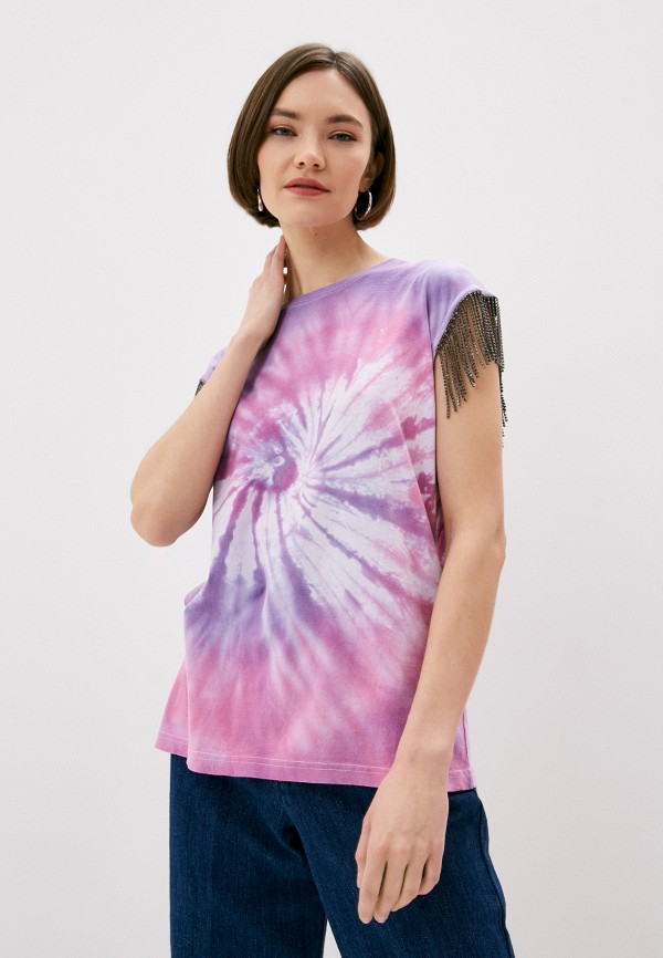 женская футболка forte dei marmi couture, фиолетовая