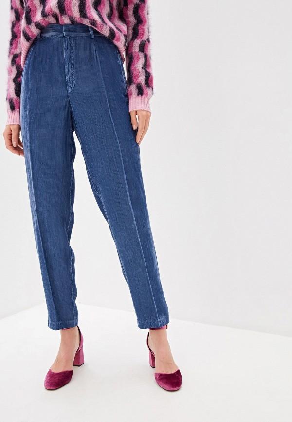 женские повседневные брюки forte forte, голубые
