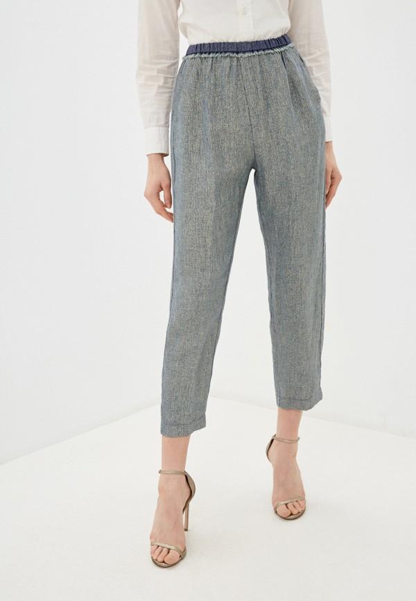 женские повседневные брюки forte forte, синие