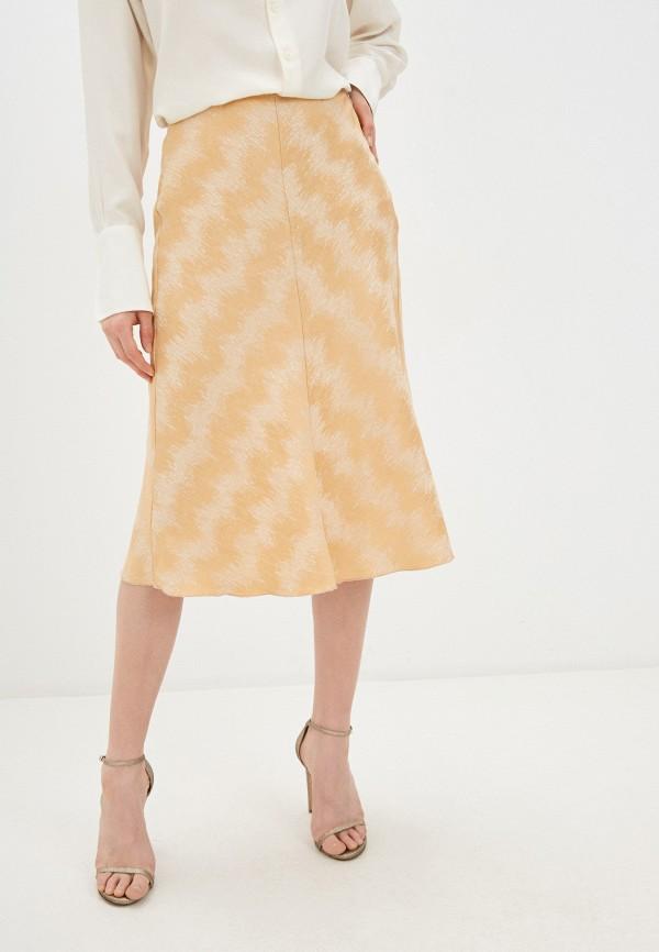 женская юбка forte forte, золотая