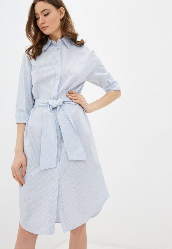 женское платье forte forte, голубое
