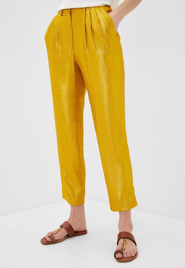 женские повседневные брюки forte forte, желтые