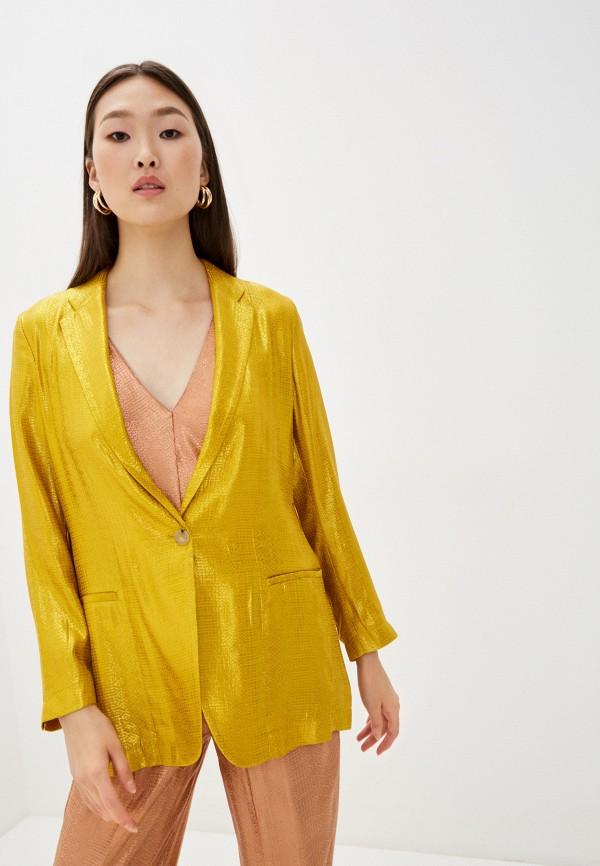 женский пиджак forte forte, желтый